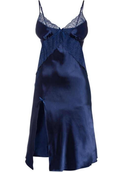 Csábító negligee csipke részletekkel, lenyűgöző kék árnyalatban