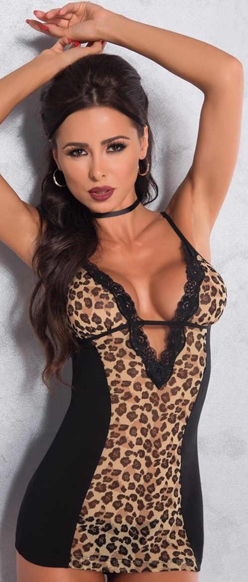 Leopard női ing még túlméretezett méretben is